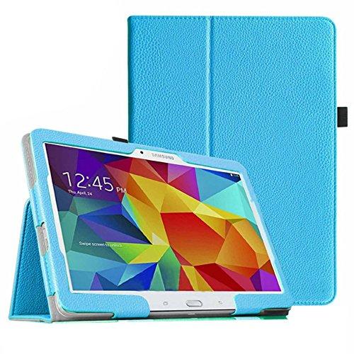 Hülle für Samsung Galaxy Tab 4 SM-T530 10.1 Zoll Schutzhülle Etui Tablet Tasche Smart Cover T531 T535 (Hellblau)