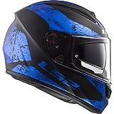 LS2 NC Casco de Motociclismo, Hombre, Negro y Azul, M