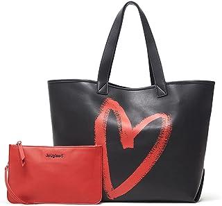 Desigual Womens BOLS_AMASENTI Namibia REV Shopping Bag, Black, One Size