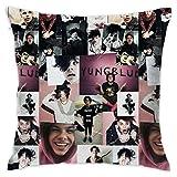 Awan&Agua Home Decor - Yungblud Throw Pillow Case Cushion Pillow Covers 18 x 18 in