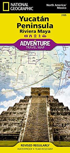 Nördliches Yukatan & Plätze der Maya: National Geographic Adventure Maps: Travel Maps International Adventure Map
