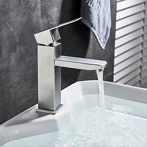 BXU-BG Grifos de lavabo de oro cepillado cascada grifo de baño monomando lavabo grifo de baño grifo de latón fregadero agua 187 * 107 mm níquel cepillado