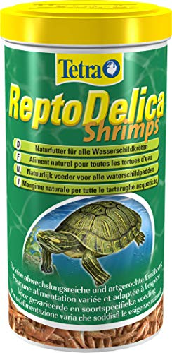 Tetra 169265 ReptoDelica Crevettes, Alimentation Naturelle pour Tortues d'eau, 1 L