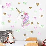 Pegatinas de pared de Dibujos Animados Lindos Unicornios Estrella Corazón Kids Room Living Room Decor Diy Home Tatuajes...