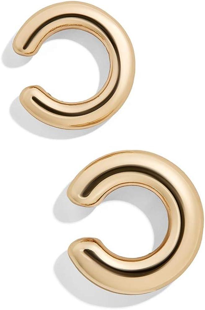 Obidos Cuff Earrings for Women 14K Gold Plated Ear Cuffs for Non Pierced Ears Cartilage Earrings