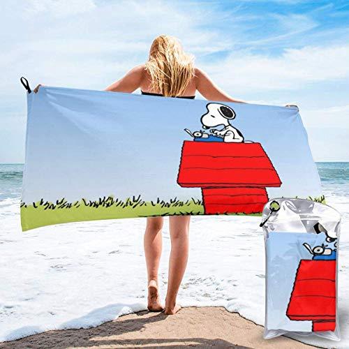 DaLaBengBa-shop Cartoon Snoopy Schnelltrocknendes Badetuch Mikrofaser Tragbares Leichtes Reisesporttuch für Camping Rucksacktouren Wandern Strand YOG Schwimmen Fitnessstudio Sport Schwimmen