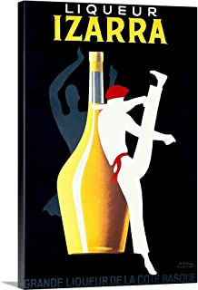 GREATBIGCANVAS Gallery-Wrapped Canvas Entitled Liqueur Izarra, Vintage Poster, by Paul Colin by 40