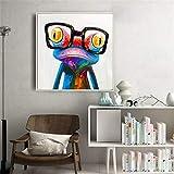 VVSUN Bunter niedlicher Frosch mit Brille Leinwand