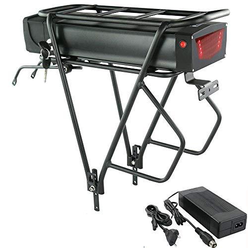 NLNL Batteria Bici elettrica 48v 20Ah Pack Batteria al Litio 18650 per Bicicletta elettrica, BMS avanzato, Caricabatterie, Adatto per Bicicletta elettrica da 1000W / 750W / 500W-48V20AH