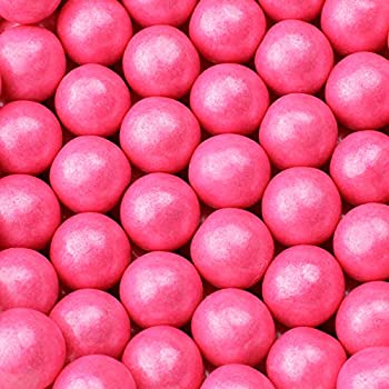 Gumballs for Gumball Machine - Shimmer Bright Pink Gumballs - Bubble Gum Flavoring 1 Inch Large Gumballs - Kids Gum - Bulk Gum Balls 2 Lb