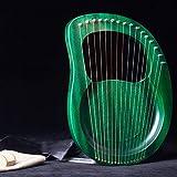 lyakin portatile a 16 corde, arpa, strumento a lire in mogano, con accordatore e borsa, adatto per gli amanti della musica, regali per bambini, strumenti di intrattenimento,p