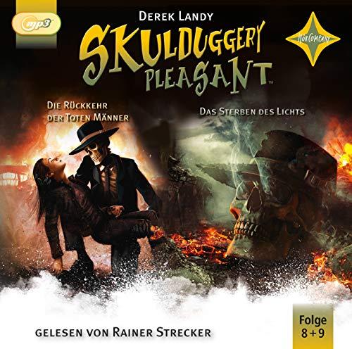 Skulduggery Pleasant 8 Die Rückkehr der Toten Männer + 9 Das Sterben des Lichts: gelesen von Rainer Strecker, 4 mp3-CD, ca. 25 Std. 35 Min. (Skulduggery Pleasant, 8-9)