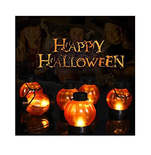 TIANXIN Halloween Pumpkin Lantern, Halloween Tealights, 6PCS Pumpkin Lights, Pumpkin LED Lights Pumpkin Decor, LED Electronic Candle Christmas Tree Decoration