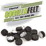 Slipstick CB256 GorillaFelt Tap-On Felt Glides (Set of 16), 1 INCH, Brown