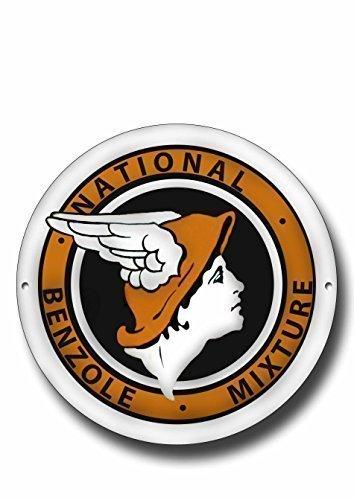 National Benzol Mezcla Metal Medallón con Acabado Esmaltado
