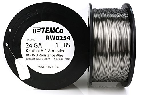 TEMCo Kanthal A1 wire 24 Gauge Resistance AWG A-1 ga