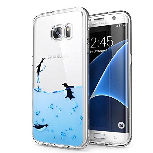 Cover Samsung Galaxy S7, Eouine Ultra Slim Protective Cover Silicone, Morbido Antiurto 3d Cartoon Pattern Gel Bumper Case Custodia in TPU per Samsung Galaxy S7 5.1-inch Smartphone (Pinguino)