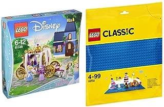 レゴ (LEGO) ディズニー シンデレラ 12時までのまほう 41146 & クラシック 基礎板(ブルー) 10714