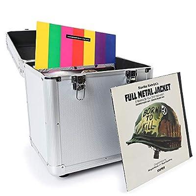 EM RC 100x 12 Inch LP Vinyl Record Case Storage Box DJ Album Collection Locking Carry Flightcase Silver
