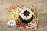 Kitchen Craft Emailliertes Fondue-Set aus Gusseisen mit 6 Gabeln, cremefarben - 6