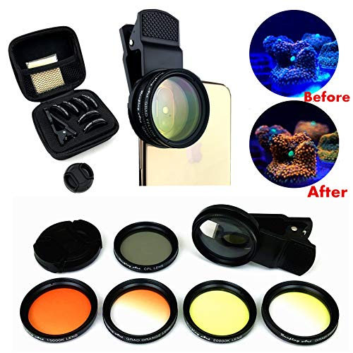 Reefing Art Coral Lens Professional Photography 6Lenses Kit frag Rack Aquarium