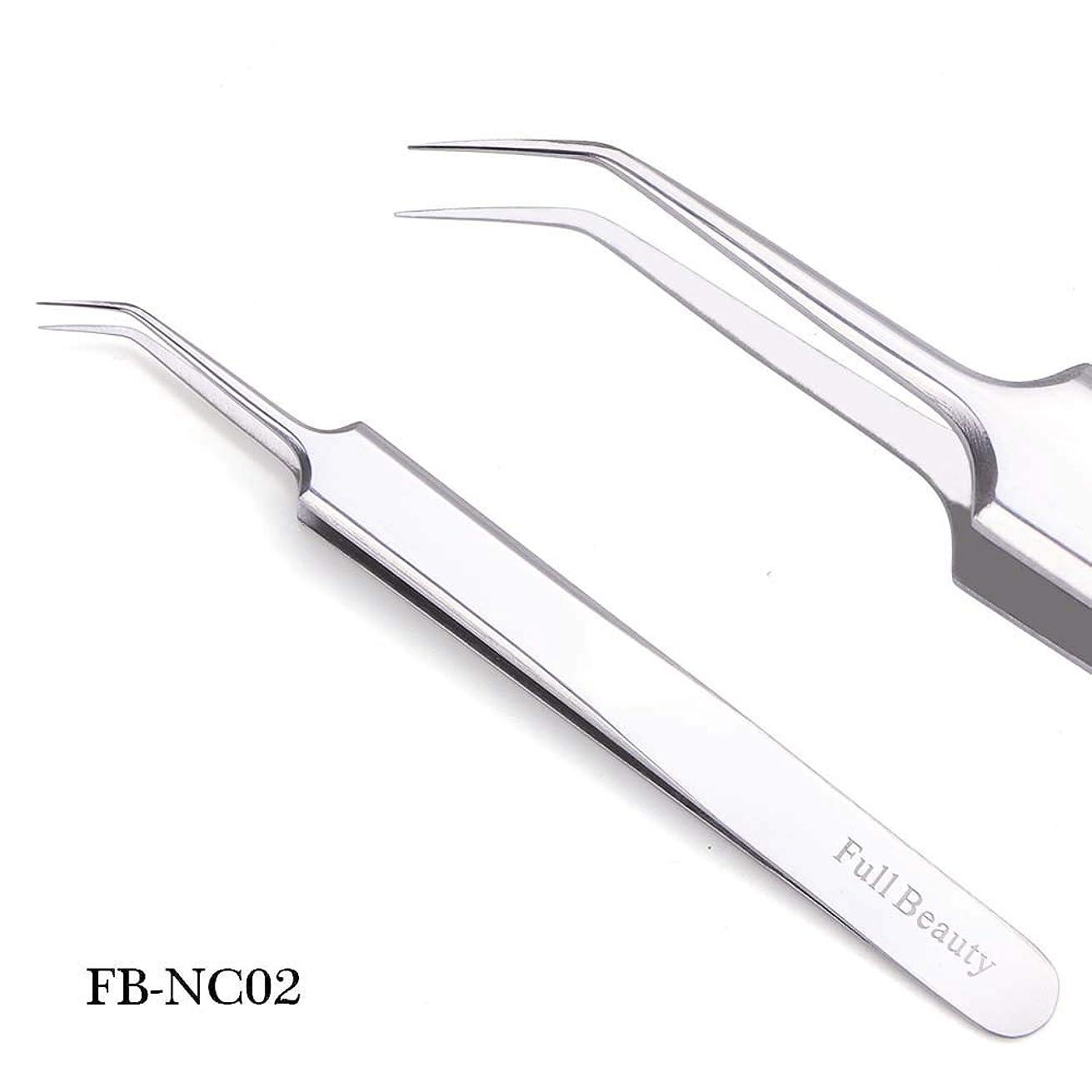 1ピーススライバーミラー眉毛ピンセット湾曲ストレートまつげエクステンションネイルニッパーにきびクリーニング化粧道具マニキュアSAFBNC01-04 FB-NC02