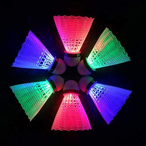 Senston Badmintonbälle A30 (hohe Stabilität und Haltbarkeit) / A9 (Stabilität) / Gänsefedern Federbälle Badminton Birdies Hochleistungs-Badmintonbälle, Unisex, LED Nylon(6 pcs)