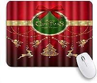 NIESIKKLAマウスパッド メリークリスリスマス挨拶新年ツリーゴールドクリスタル ゲーミング オフィス最適 高級感 おしゃれ 防水 耐久性が良い 滑り止めゴム底 ゲーミングなど適用 用ノートブックコンピュータマウスマット