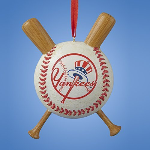 Kurt Adler Major League Baseball New York Yankees Baseball and Bats Christmas  Ornament - Yankees Christmas Ornaments: Amazon.com