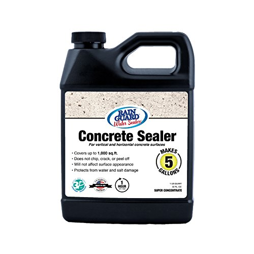 Premium CONCRETE SEALER Concentrate (Makes 5 Gal) Clear Natural Finish, Silane Siloxane Penetrating Water Repellent Sealer For all Unpainted/Unsealed Concrete Surfaces