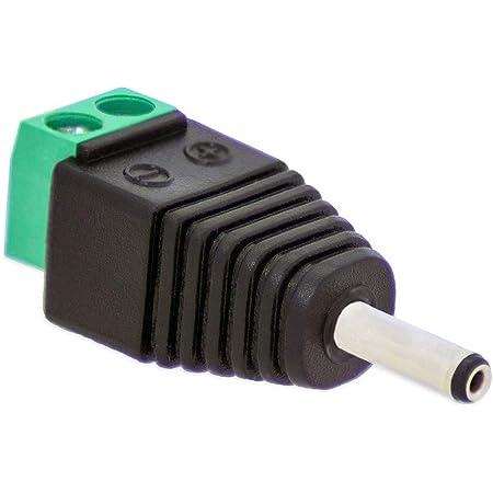 2.5 mm DC Power Stecker Buchse Adapter Stecker  0U 1x Metall 5.5