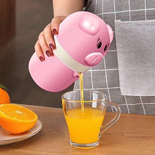 N\C Fruchtsaftpresse Niedlicher Schwein Hand Entsafter Citrus Orange Squeezer Abdeckung Rotary Juicer Küchenzubehör Handbuch Juicer Squeezer Haushalt Multifunktionaler Entsafter
