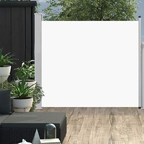 FAMIROSA Ausziehbare Seitenmarkise 100x300 cm Creme