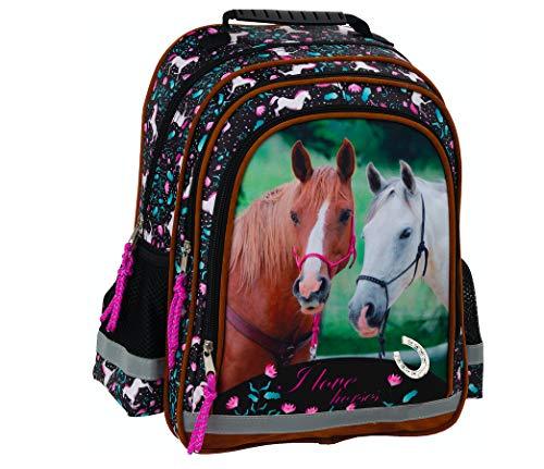 Pferd Pony Einhorn Horses Schulrucksack Rucksack Tasche inklusive Sticker von Kids4shop Schulranzen