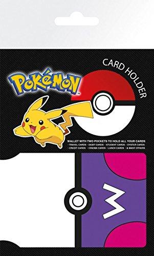 1art1 Pokemon - Masterball Tarjeteros para Tarjetas De Crédito (10 x 7cm)
