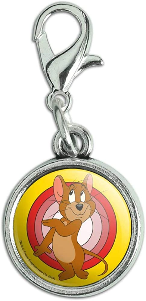 GRAPHICS & MORE Tom and Jerry Jerry Character Antiqued Bracelet Pendant Zipper Pull Charm with Lobster Clasp