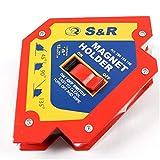S&R Escuadra Magnética Soldadura - Imán para soldador con interruptor 12 x 12 x 3 cm