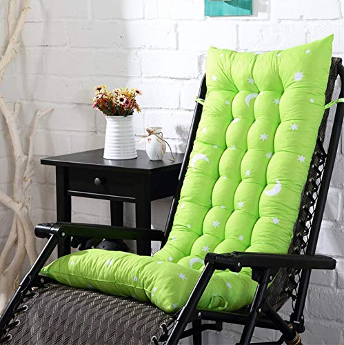 Patio Lounger Cushion, Indoor/Outdoor Chaise Lounger Cushions Rocking Chair Sofa Cushion with 6 Ties