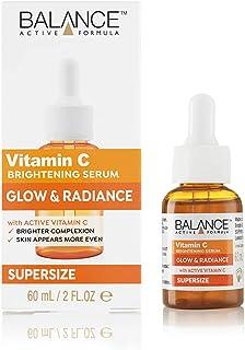 Balance Active Formula Vitamin C Supersize Brightening Serum (60ml) - Lightweight & non-greasy. Brighter Complexion. Skin ...