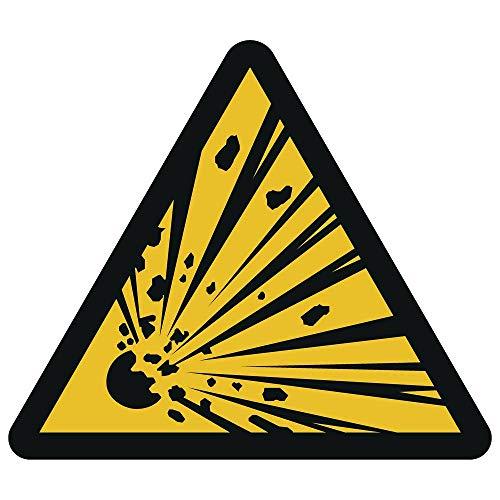 Warnung vor explosionsgefährlichen Stoffen Aufkleber Ø 10 cm (wetterfest)
