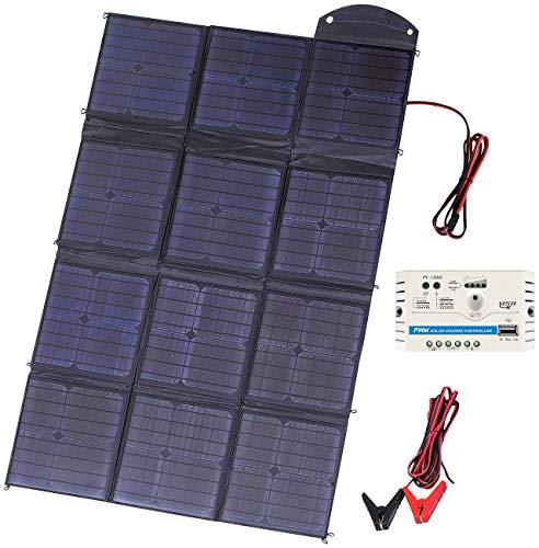 revolt Solar Panel faltbar: Mobiles, faltbares Solarpanel mit 12 monokristallinen Zellen, 150 Watt (Solarpanel tragbar)