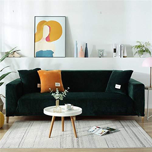 KKDIY Stretch Velvet Home Sofabezug Herbst Winter Verdickte rutschfeste Sofabezug für Wohnzimmer All-Inclusive-Bezug Modell 1,3 Sitz (190-230 cm), China