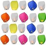 LARA Quality Sky Lanterns (Multicolor, Pack of 15)