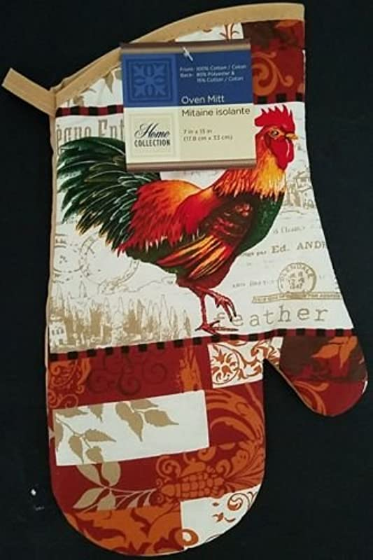 The Pecan Man COLORFUL FEATHER ROOSTER Everyday Decor Kitchen 1 OVEN MITT