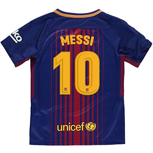 Camiseta 1ª Equipación Replica Oficial FC BARCELONA 2017-2018 Dorsal MESSI - Tallaje ADULTO (S)
