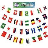 2018 Russland Weltmeisterschaft WM Alle 32 Nationen Fußball Fahnenkette Banner Dekoration, Länge 9m Große Fahnen 14cm x 21cm