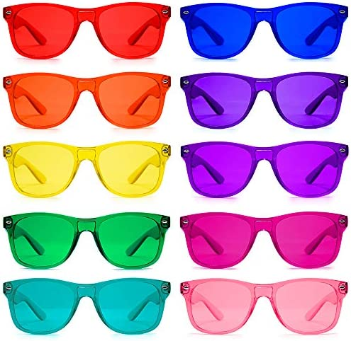 Color Therapy Mood Glasses 10 Pack by Purple Canyon Light Therapy Chakra Healing Glasses Chromotherapy product image