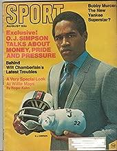 Sport Magazine, August 1969, OJ Simpson Cover