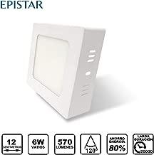 Clase Energ/ética A++ /· 6500K Luz Blanca Fr/ía /· Tama/ño 110mm de di/ámetro Plaf/ón LED Circular ARIES /· Downlight LED Redondo de Superficie de 6W con Chip Interior OSRAM /· 720 Lm