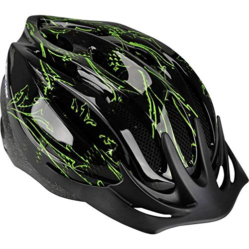 FISCHER Erwachsene Fahrradhelm, Radhelm, Cityhelm, Schwarz grün, S/M